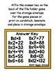 Multiplication Magic Multiplying by 11s File Folder Game