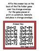 Multiplication Magic Multiplying by 12s File Folder Game