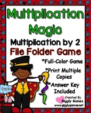 Multiplication Magic Multiplying by 2s File Folder Game