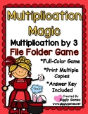 Multiplication Magic Multiplying by 3s File Folder Game