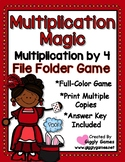 Multiplication Magic Multiplying by 4s File Folder Game