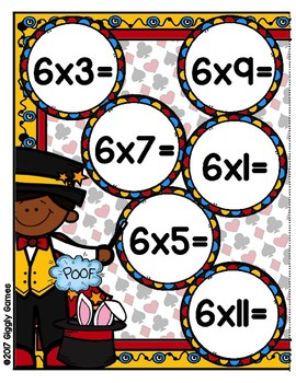 Multiplication Magic Multiplying by 6s File Folder Game