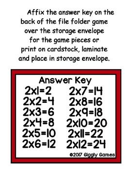 Multiplication Magic Set of 12 File Folder Games
