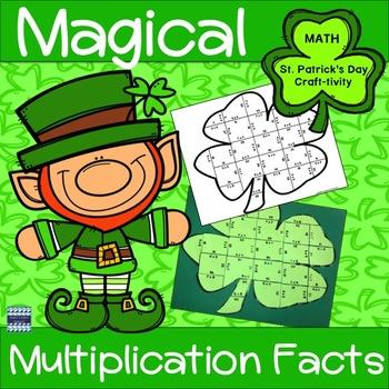St. Patrick's Day Multiplication Magical Shamrock