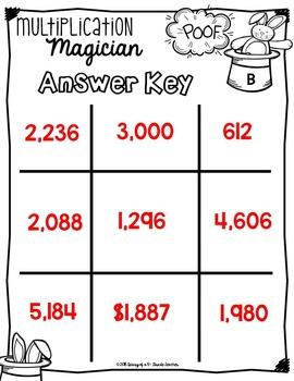 Multiplication Magician Tic-Tac-Score 5.NBT.5