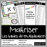 Multiplication - Maitriser les tables