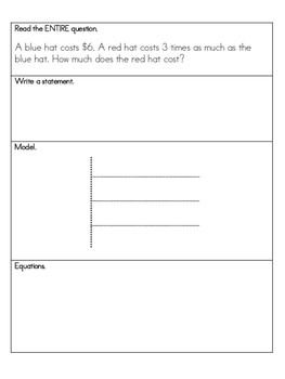 Multiplication- Making Comparisons using Strip Diagrams