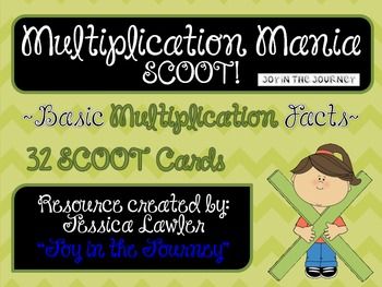 Multiplication Mania Scoot: Basic Fact Multiplication
