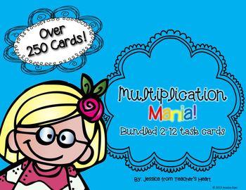 Multiplication Mania! Task Cards