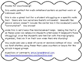 Multiplication Maps (Graphic Organizer)