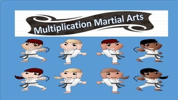 Multiplication Martial Arts (0-12 times table resource)