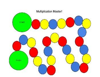 Multiplication Master Board Game