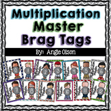 Multiplication Fact Master Brag Tags