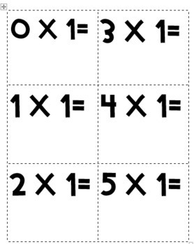 "Multiplication ""Master"" Flash Cards & Quick Assessments"