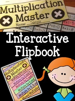 Multiplication Master! Math Fact Interactive Flipbook-Multiplication Facts