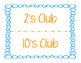 Multiplication Master's Club Chart
