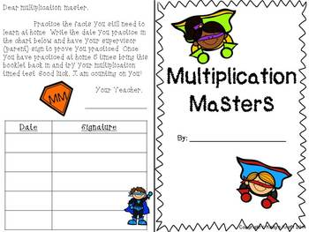 Multiplication Masters: Basic Fact Booklet