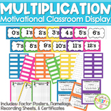 Multiplication Masters Classroom Display Student Progress Chart