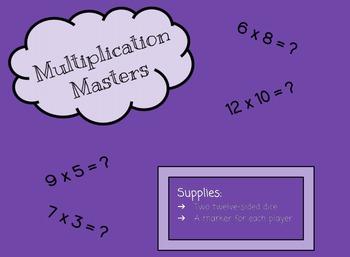 Multiplication Masters: Multiplication Game
