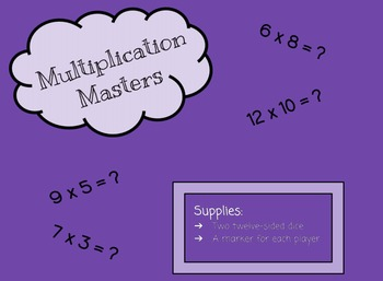Multiplication Masters: Multiplication Game