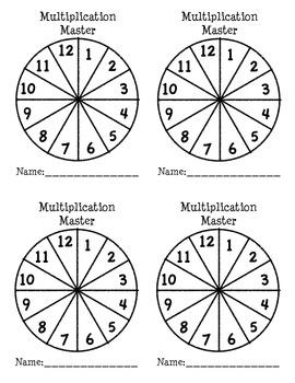 Multiplication Masters Recording Sheet