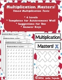 Multiplication Masters! - Timed Fact Tests