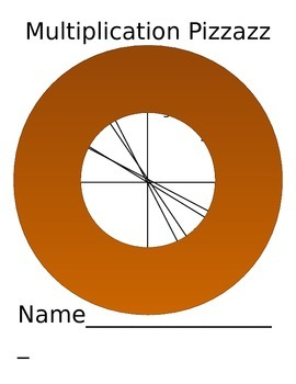 Multiplication Mastery Chart - Pizza