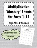 Multiplication Mastery Fluency Tests