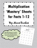 Multiplication Mastery Fluency Tests