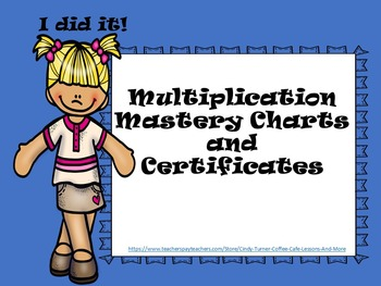Multiplication Mastery Sheets and Certificates