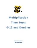 Multiplication Mastery Timed Tests (0-12's and Doubles)