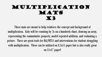 Multiplication Mat - 3s