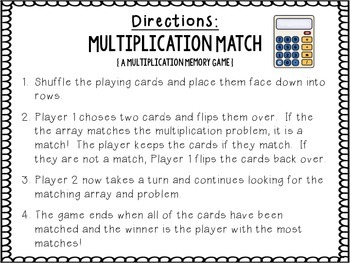 Multiplication Match