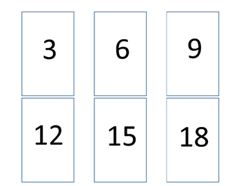 Multiplication Match 3's Times Table