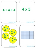 Multiplication Match Game Cards