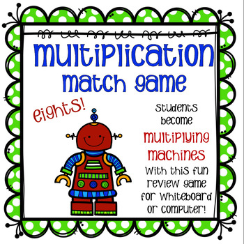 Multiplication Match Game - Eights