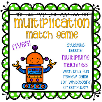 Multiplication Match Game - Fives