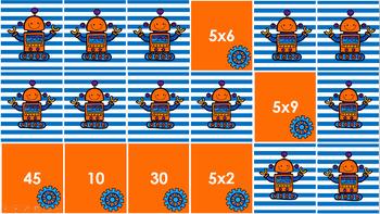 Multiplication Match Game - Fives
