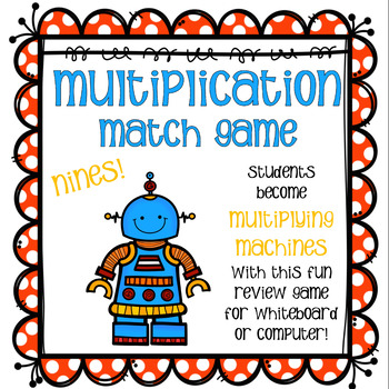 Multiplication Match Game - Nines