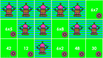 Multiplication Match Game - Sixes