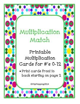 Multiplication Match Set