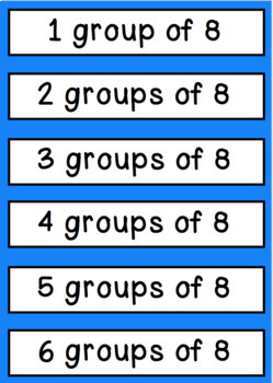 Multiplication Match- Times tables, pictures, words & repeated addition.