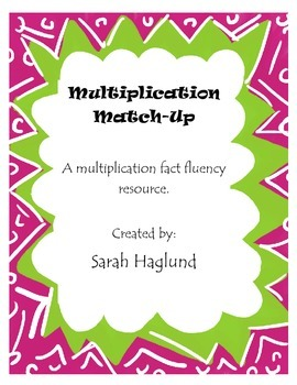 Multiplication Match-Up: Fact Fluency