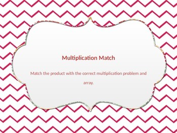 Multiplication Match Up 4's