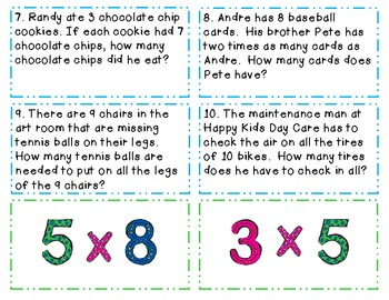 Multiplication Match-Up Activity CCSS Aligned