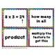 Multiplication Match Up Cards 3.OA.A.1 & 3.OA.A.3