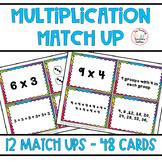 Math Multiplication Match Up Cards 3.OA.A.1 & 3.OA.A.3