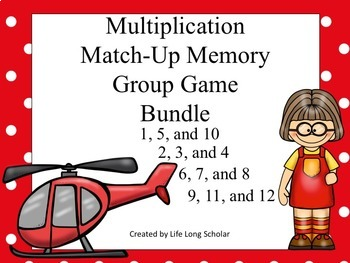 Multiplication Match Up Game BUNDLE!
