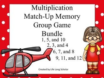 Multiplication Match Up Game BUNDLE!