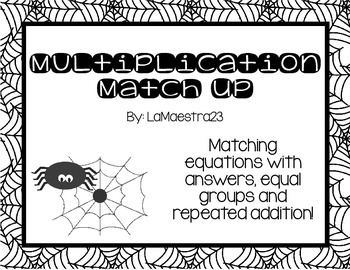 Multiplication Match Up Spiders